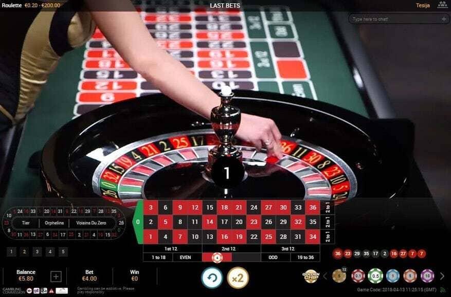Spela roulette live på nätet
