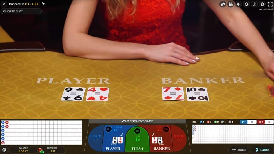 Baccarat – Spelar du på spelaren eller banken